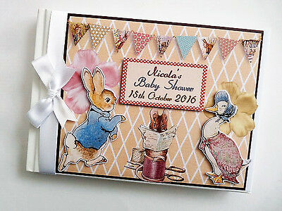 Personalised Classic Peter Rabbit Birthday Guest Book - Any Design