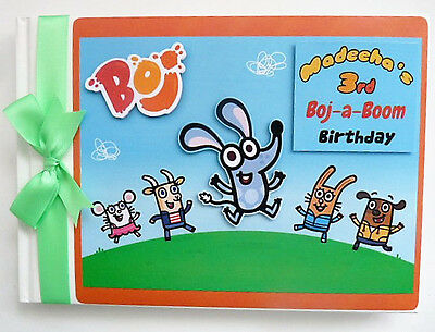 Personalised Boj The Mouse Boy/girl /first/1St Birthday Guest Book Any Design