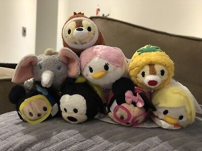 Disney Vacation Tsum Tsum Disney Store Complete Set Of 8 With Tags Two Scented