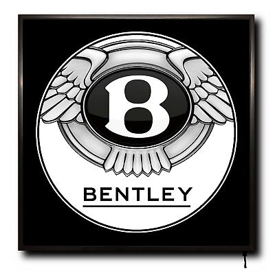 LARGE LED 50cm X 50cm WALL LIGHT BADGE TRUCK CAB MAN CAVE SIGN REMOTE 911 TURBO
