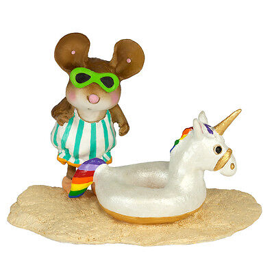 FUN FLOATIE UNICORN by Wee Forest Folk, WFF# M-442b, Limited Ed Beach Mouse