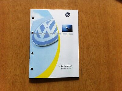 Vw Volkswagen Service Book New And Genuine Covers All Petrol And Diesel ///