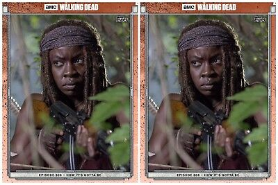 2x 808 RED MICHONNE The Walking Dead Trader Digital Card
