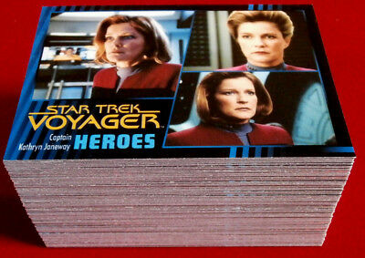 STAR TREK VOYAGER - Heroes & Villains - Complete Base Set, 99 cards, Rittenhouse