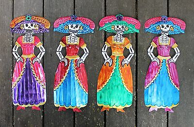 Mexican Catrina, Day of the Dead - SOLD SEPARATELY - Tin Folk Art Shabby Chic