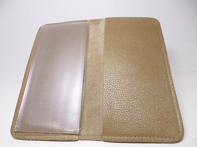 Bay State Exclusive Sandcastle Pebble Leather Standard Checkbook Cover-USA Made