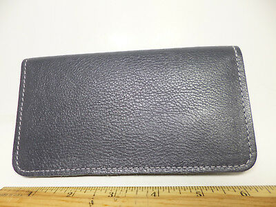 Bay State Exclusive Slate Pebble Leather Standard Checkbook Cover-Made In USA.