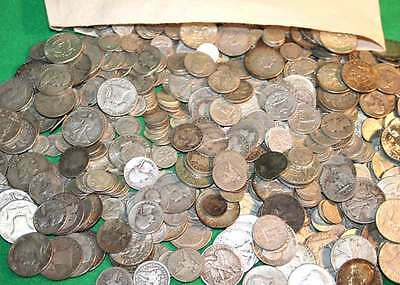 1 Ounce 90% Silver U.S. Junk Coins included & Half Dollar all 90% SILVER!
