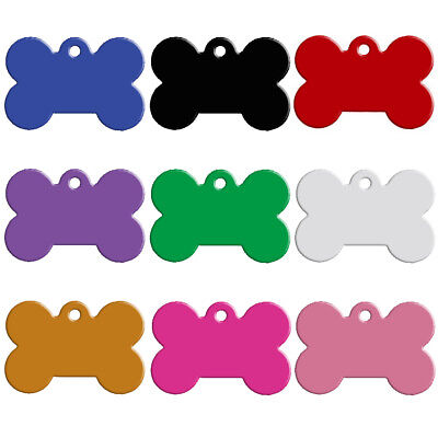 100pcs/lot Bone Dog Tags Personalized Pet Puppy ID Name Collar Tag Wholesale S-L