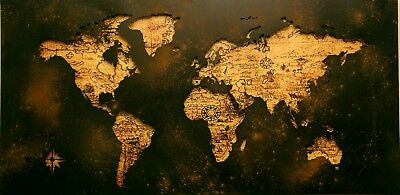 World Map -  Art Picture Poster Photo Print 8WLD