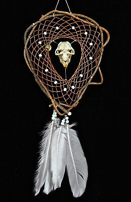 Dreamcatcher #1297- Genuine Muskrat Skull- Native American, Tribal Art