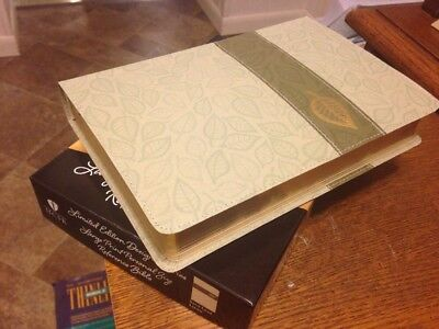 CSB HCSB LARGE PRINT Reference Bible - sage leaf LINEN Limited Edition