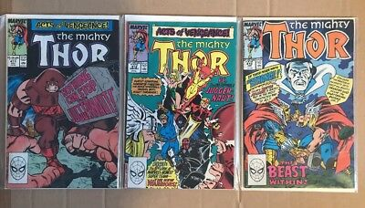 THE MIGHTY THOR #411-413 (1989) Dr Strange/1st Appearance New Warriors