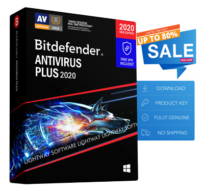 Bitdefender Antivirus Plus 2020 - 3 PC, 1 Year (Key - Activation code)