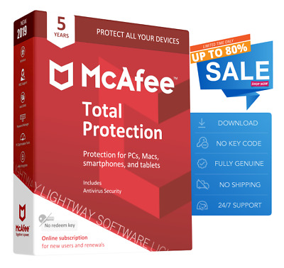 McAfee Total Protection 2019 - Unlimited devices, 5 Years (Subscription)