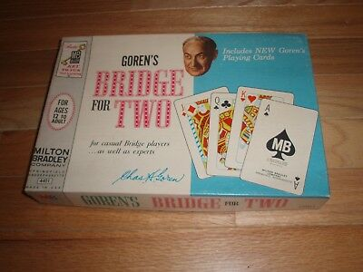 1964 Vintage Goren's Bridge For Two Game Milton Bradley New In Cello Wrapper