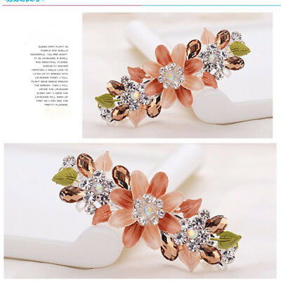 Women Hairpin Girls Flower Hair Clips Crystal Hair Accessories Rhinestone