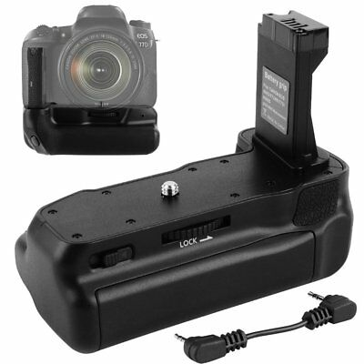 LP-E17 Battery Grip Holder For Canon EOS 77D 800D 9000D Rebel T7i Camera + Cable