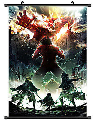 B2503 Attack on Titan anime manga Wallscroll Stoffposter 25x35cm