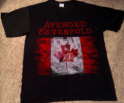 new A7X - AVENGED SEVENFOLD THE STAGE CANADA 2018 Tour Date Event Shirt- GILDAN