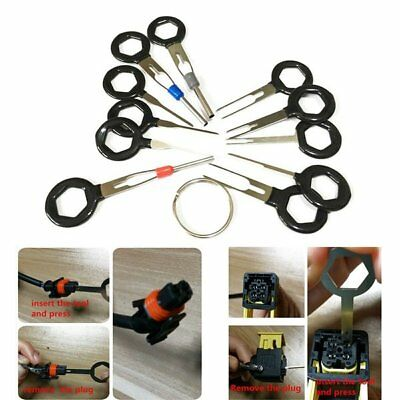 11*Connector Pin Extractor Kit Terminal Removal Tool Electrical Wiring Crimp BK
