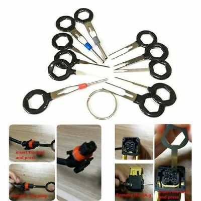 11pcs Car Terminal Removal Tool Wiring Connector Extractor Puller Release Pin BK