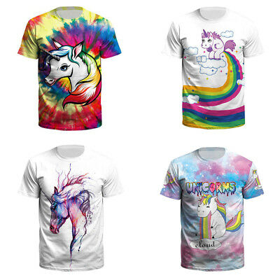 Unicorn Galaxy T-Shirt Unisex Mens Ladies Trendy HIPSTER Funny tops shirts