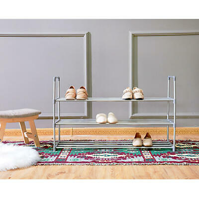 3-Tier Shoes Rack Organizer Storage Bench 18 Pairs Closet Cabinet Entryway