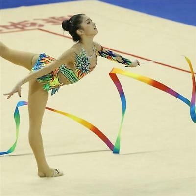 Gym Ribbon Stick Gymnastic Streamer Twirling Rod Rhythmic Ballet Dance NEW - FI