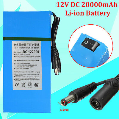 DC-12200 12V 20000mAh Rechargeable Portable Li-ion Battery For CCTV Camera