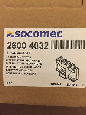 SOCOMEC 2600 4032 SIRCO 4X315A F LOAD BREAK SWITCH 315A New