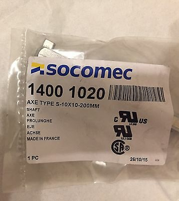 SOCOMEC AXE Type S-10x10-200mm Shaft 1400 1020 New