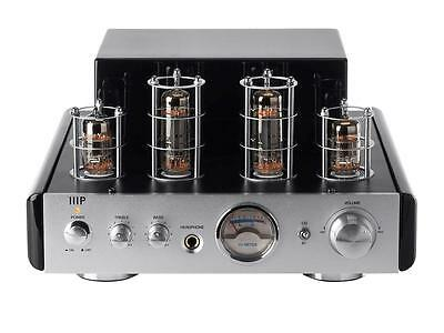Monoprice® 25-Watt AB Power Amplifier Stereo Hybrid Tube Amp with Bluetooth