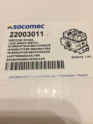 SOCOMEC 22003011 SIRCO M3 3X125A Load Break Switch New