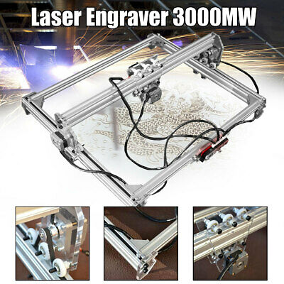 DIY 12V 3000mW Laser Incisore Engraver Taglio 65x50cm Incisione Printer Incidere