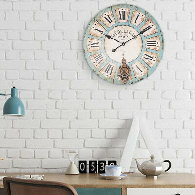 60Cm Antique Vintage Style Extra Large Shabby Chic Wall Clock New Uk