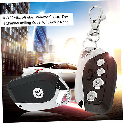 433.92Mhz Remote Control Key 4 Channel Rolling Code For Electric Door RF