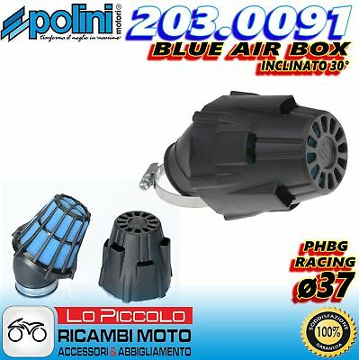 203.0091 Filtro Aria A Fungo Blue Air Box Polini Carburatori Phbg 21 24 26 28