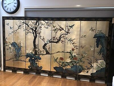 Vintage Antique Chinese Screen - Beautifully Hand Crafted