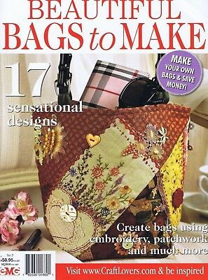 BAGS 17 Crazy Patchwork Sewing Patterns Hand Made Bag Totes Embroidery Magazine