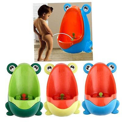 Frog Boy Kids Baby Toilet Training Children Potty Pee Urine Home Bathroom PT