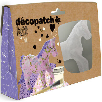 Avenue Mandarine Decopatch Mini Horses Kit - Kids Art Decoupage Kit