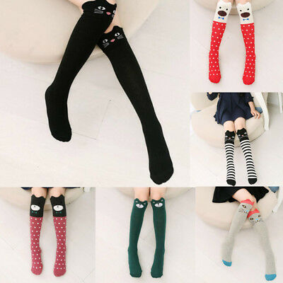 New Children Kids Girls Animal Pattern Knee High Socks Cute Stockings Long Socks