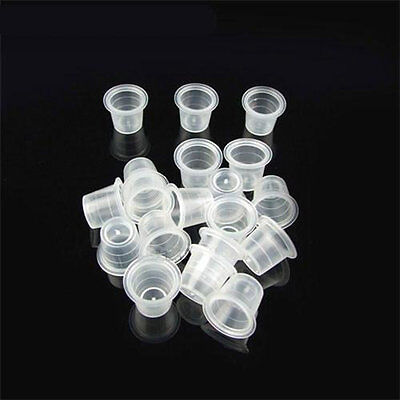 1000pcs Tattoo Ink Cup Plastic Cap White Color for Needle Ink Tattoo Supplies PA