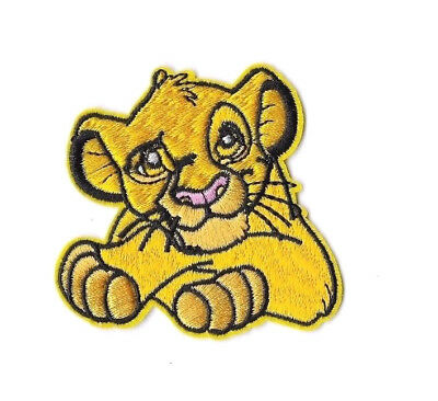SIMBA IRON ON / SEW ON PATCH Embroidered Badge PT136 CARTOON THE LION KING KIDS