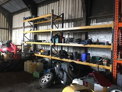 Industrial Shelving Racking Used 14 Struts And 3 Uprights Warehouse Pallet