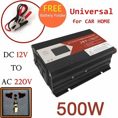 Car Power Inverter DC 12V to AC 240V 500W for Camping Boat Caravan USB chargergt