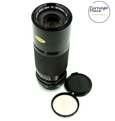 CANON FD 100-200mm F5.6 Zoom Lens Canon AE-1 FD Mount EXC