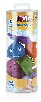 Nuby Squirters Bath Time Toys - Pack of 8