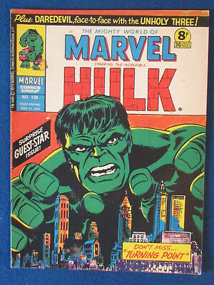 Marvel Comic - The Mighty World of Marvel - Incredible Hulk - Issue 139 - 1975